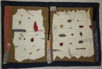 Lost Art of Mending 1: Cumulus Cotton, linen, hand embroidered and stitched 2014