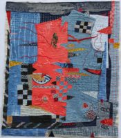 Boro Shape Shifting 2 Cotton, linen, hand embroidered and stitched 2014