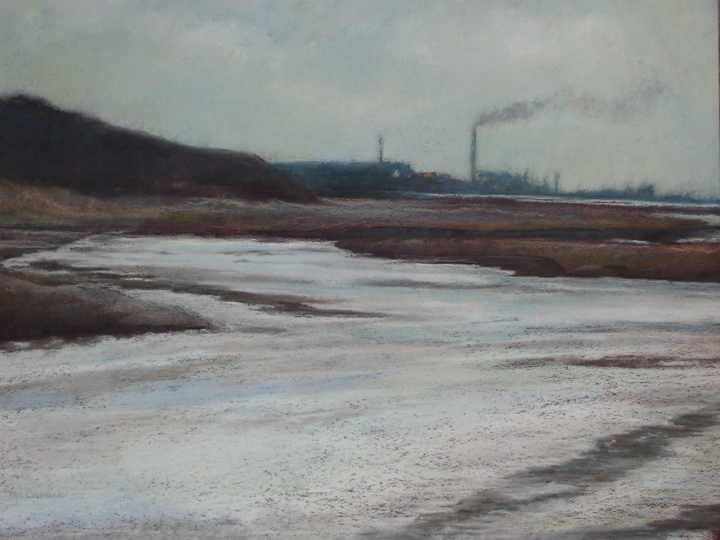 pastel painting of Northern Indiana Lakeshore